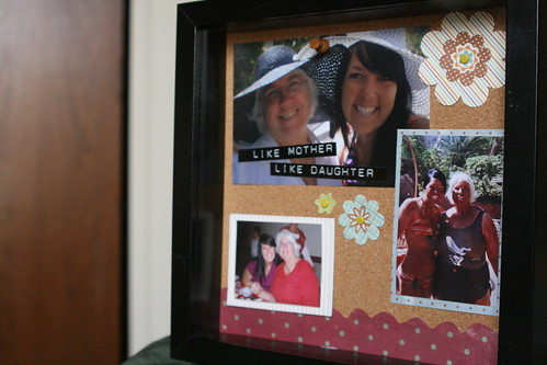 shadow box for mom.