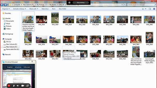 Skype Screen Share of Photos from Our South Dakota Family Visit