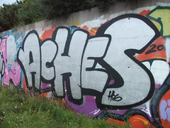 Quick chrome in drogheda (HeadAkes) Tags: graffiti aches hogs