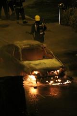 IMG_2069 (_Madinina_) Tags: london car night fire chaos police voiture tragedy londres firemen riots nuit londra macchina incendio notte fuoco feu incendi ealingbroadway tragedia emeutes tragedie rivolte august2011