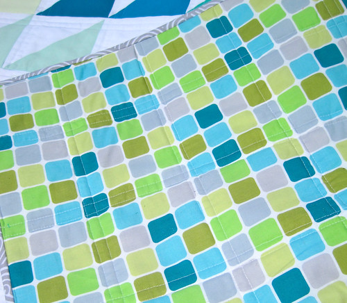Sea Glass quilt back