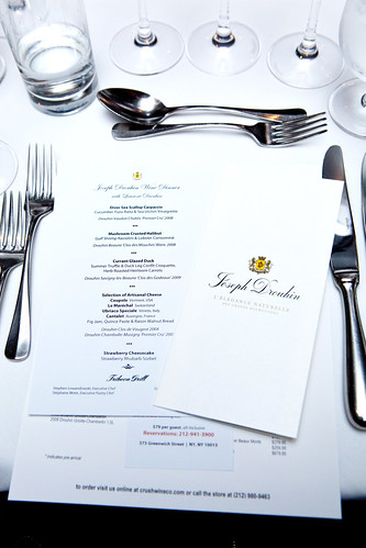 Menu and wine information