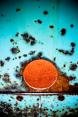 Rusty sunrise. (Ian McWilliams.) Tags: old blue sunrise rust decay explore bold tanfieldrailway canon550d