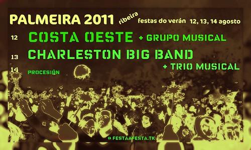 Ribeira 2011 - Festas do Verán en Palmeira - cartel elaboración propia