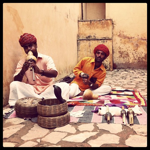 Snake charmer, Amber Fort. India