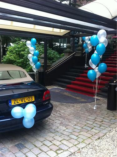 Gronddecoratie 10ballonnen Kasteel Wittenburg Wassenaar
