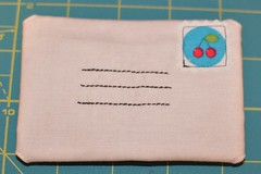 envelope needle book - front