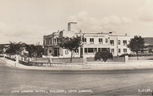 Old postcard of Loch Lomond Hotel 2