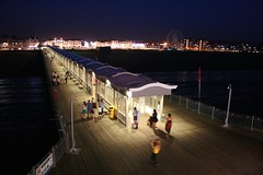 Weston pier (chrisw09) Tags: dark evening pier warm relaxing handheld westonsupermare thisevening