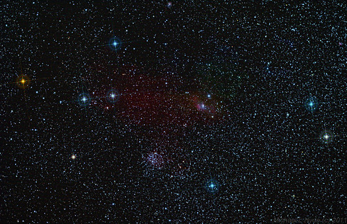 M52 & Bubble Nebula 300911 - 1hour 7mins by Mick Hyde
