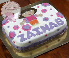 dora cake (Violet.bh) Tags: birthday cake bag bahrain sweet chocolate dora purse bh