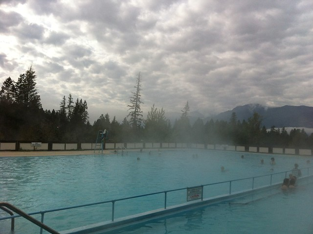 Spent the morning in the hotspring pools #roughlife