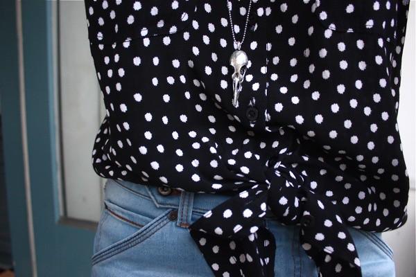 fashionology bird skull necklace