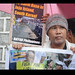 anti-naval base protest action in South Korean embassy