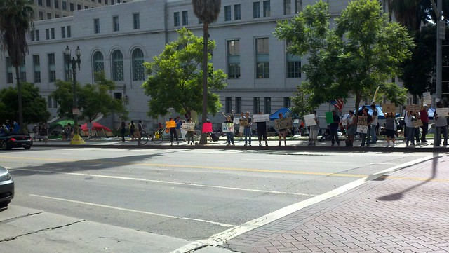 Occupy Los Angeles is relocated to North Lawn of City Hall