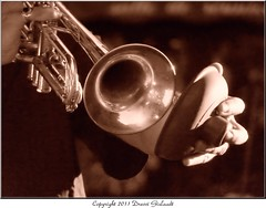 When the Swing goes marching in our souls (Gislaadt Art (I am back NOW)) Tags: music sepia trumpet jazz swing duotone trompette