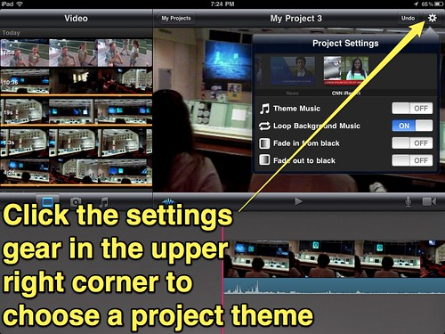 4 (iMovie for iPad) - Change Project Settings