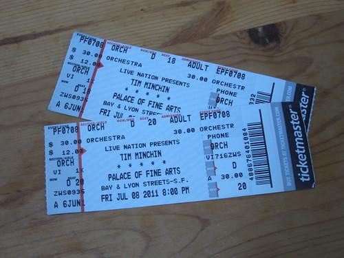 Minchin Tickets