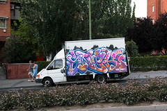 snak qms vdf (dug_da_bug) Tags: madrid graffiti spain van furgoneta snak qms vdf
