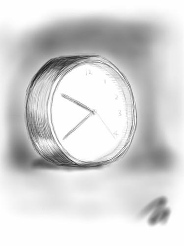 きょうのおえかき:時計