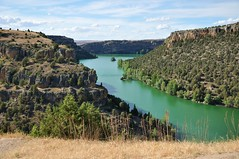 Hoces del Duratón (faltimiras) Tags: park parque españa rio river spain kayak day cloudy oz national segovia leonardo parc nacional hoces duraton riu buitres espanya meandres