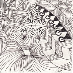 05-22-2011 (Blind Squirrel Photo Safari) Tags: art tile drawing hobby doodle tangle zentangle