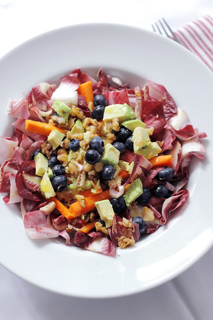 Red Chicory, Avocado and Blueberries