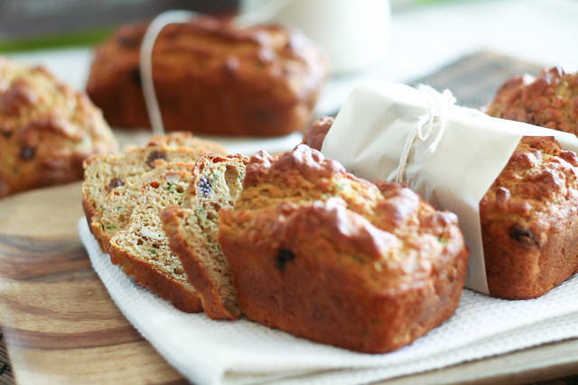 Sliced Pumpkin and Zucchini Breads