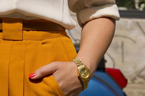 ivory, gold & mustard