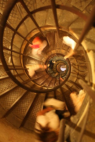 Looking Down Arc de Triomphe Staircase