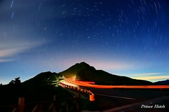 -  - Stars trails on Shi-Men Mountain (prince470701) Tags: taiwan   hehuanmountain  starstrails  carstrails sonya850 sony2470za shimenmountain starsorbits
