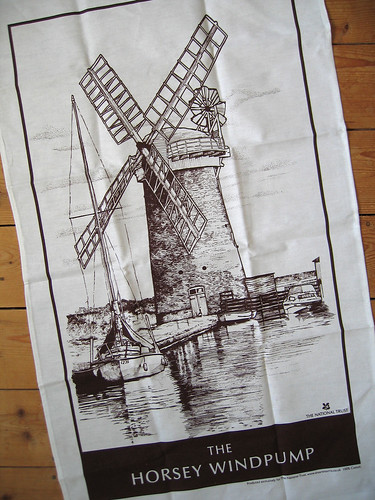 Horsey Windpump tea towel