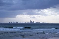 gold coast skyline 2, coolangatta (NiklasPlutte) Tags: ocean travel blue skyline clouds dark waves australia australien reise coolangatta goldcoast