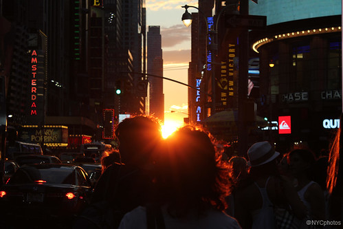 Manhattanhenge, July 13, 2011