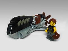 Skybike (JonHall18) Tags: bike lego aircraft fantasy scifi vehicle speeder moc skyfi dieselpunk dieselpulp