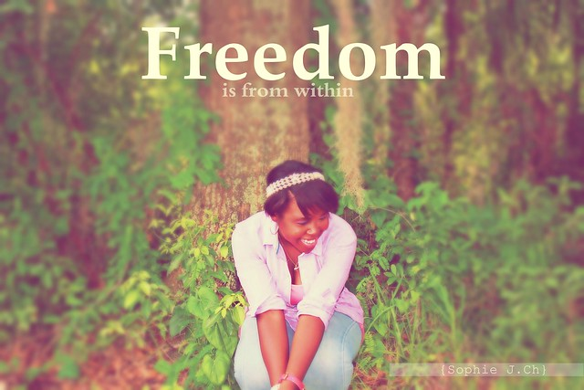 """Freedom is from within"""