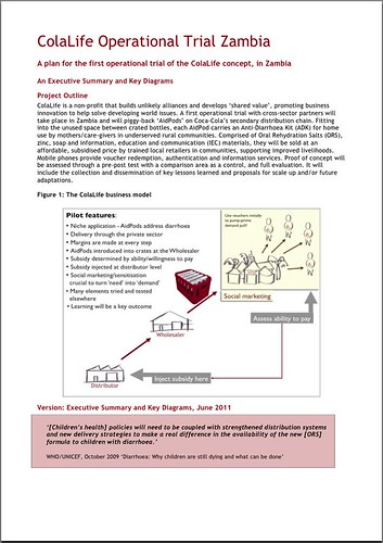 ColaLife Trial Plan EXEC and Key Diagrams Cover
