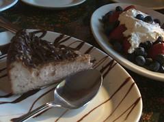 Cheesecake and berries