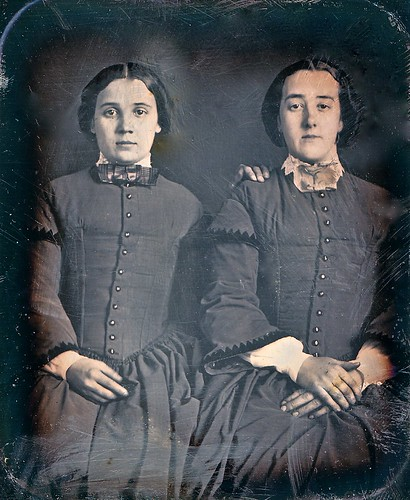 Sisters, 1/6th-Plate Daguerreotype, Circa 1850 by lisby1