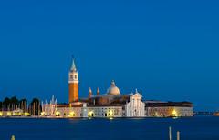 San Giorgio Maggiore - [EXPLORED] (andreaskoeberl) Tags: longexposure blue venice italy architecture night lights nikon chruch bluehour sangiorgiomaggiore isand 1685 d7000 nikon1685 nikond7000 andreaskoeberl