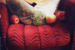 The apple tree (basistka) Tags: woman tree apple girl tattoo fruit ink poland basistka xbasistkax leśniańska