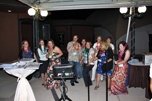 Karaoke at the Savvy Blogging Summit Luau