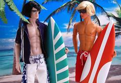 I <3 Surfer Boyz. (APPark) Tags: beach dolls pierre surfing homme dioramas takeo fashionroyalty 16scale nuface