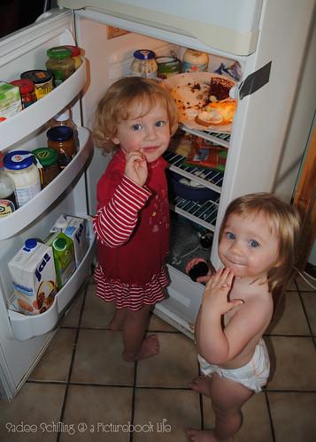 girls in fridge