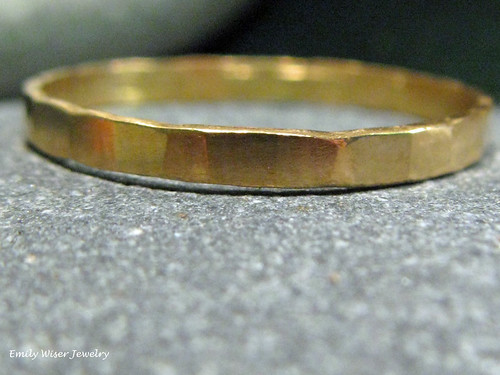 22K Gold Stacking Band Ring by EmilyWiserJewelry2011