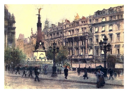 002-Bruselas plaza de Brouckére-Belgium 1908- Amédée Forestier