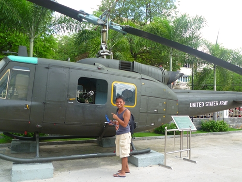 Helicopter at War Remnants Museum - Saigon, Vietnam