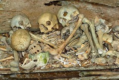 Pile of Skulls (cowyeow) Tags: cemeteries cemetery indonesia asian dead skeleton death skull asia traditional faith religion tomb culture belief pile bones bone tradition sulawesi crypt indonesian afterlife tanatoraja crypts toraja rantepao asianculture