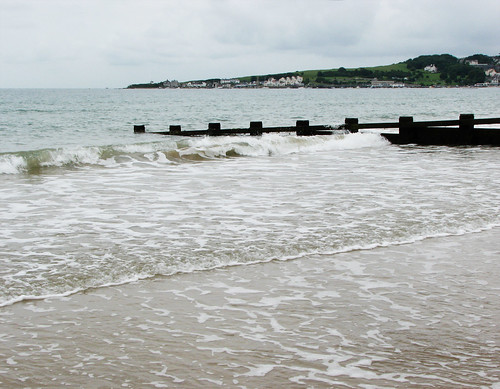 Waves on Swanage beach