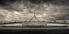Parliament House Canberra (rudolfhelmis) Tags: blackandwhite bw architecture print photography australia parliament canberra hdr act
